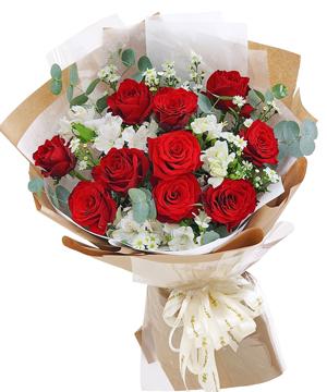 Bó hoa tươi Cupid roses, shop hoa tươi online