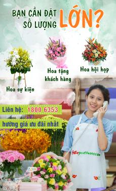 Đặt hoa số lượng lớn